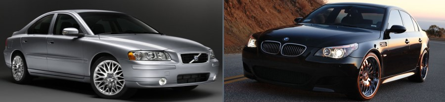 Volvo and BMW